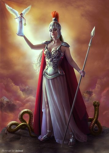 Athena - Greek goddess of wisdom and war